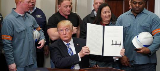 Dazi Trump ordina aumento tariffe su tutto l'import da Cina