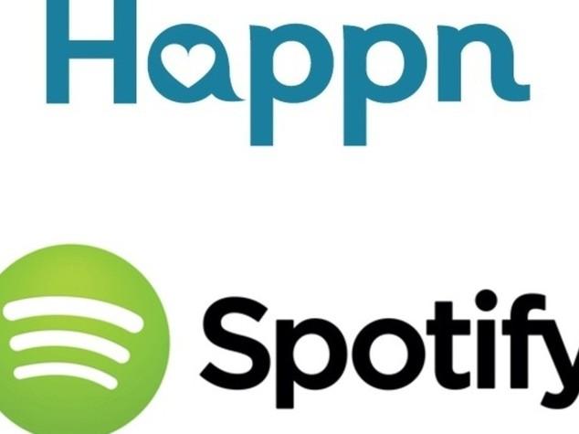 Happn incontra Spotify per mettere in musica i momenti piu' belli