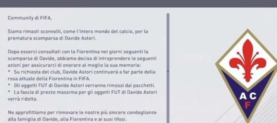 Fifa 18 ha deciso di lasciare Davide Astori nella rosa viola