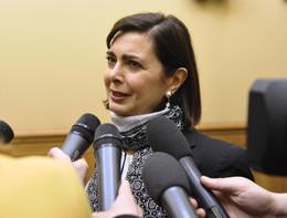 Boldrini commenta l'elezione di un grillino a suo successore