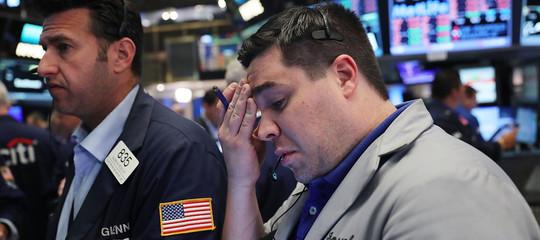Wall Street: chiude in forte calo, preoccupa guerra commerciale Usa-Cina