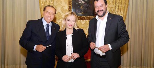 Berlusconi, Salvini e Meloni si ritrovano ad Arcore per serrare le file