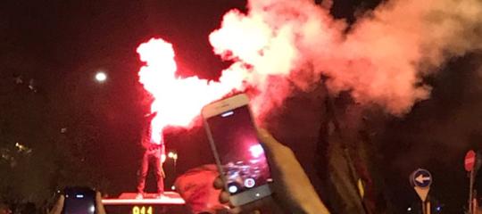Champions: Pallotta fa bagno a Piazza Popolo, Verdone esulta su Fb