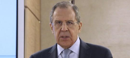 """Siria: Lavrov""""attacco chimico unamessinscena, siamo in contatto conUsa"""""""