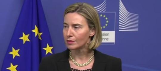 Siria: Mogherini, Ue informata di raid; la soluzione sia politica