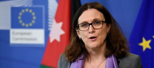 Dazi:Malmstroem, no a minacce Usa; Ue si aspetta esenzione