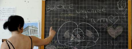 Un insegnante a scuola