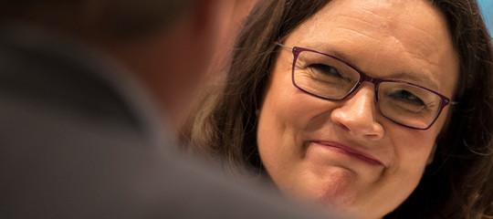 Chi è AndreaNahles, la prima donna a guidarel'Spdin Germania