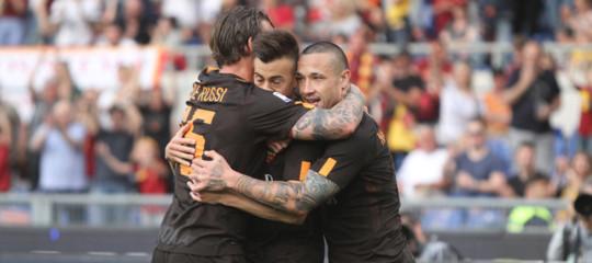 Calcio: la Roma batte il Chievo 4-1 e consolida il terzo posto
