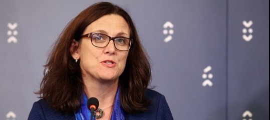 Dazi: Malmstrom, Ue aperta ad accordi ristretti con Usa