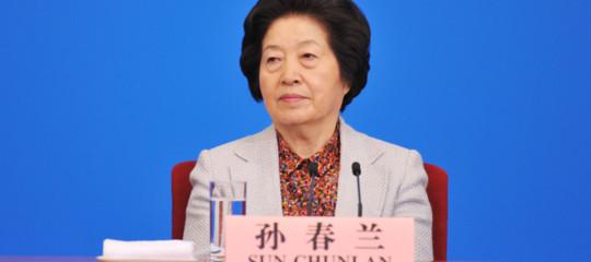 Si chiamaSunChunlan l'unica donna nelpolitburodel Partito comunista cinese