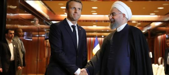 """Iran: Macron e Rohani insieme per """"continua attuazione"""" accordo"""
