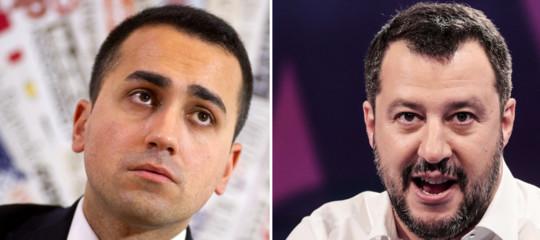 """Finito vertice sul governo.Salvini:""""Siamo al tratto finale"""". Di Maio: """"È il momento del coraggio"""""""