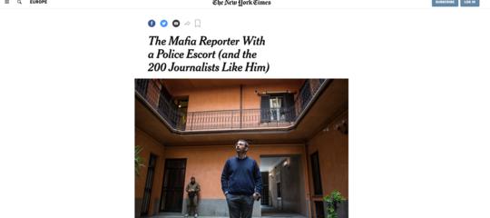 La storia di PaoloBorrometiè sul New York Times. Insieme aquella di altri 200 giornalisti minacciati