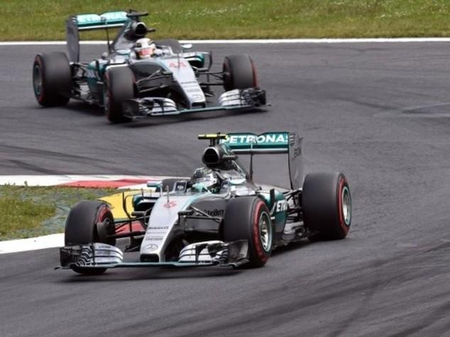 F.1: Gp Austria, vince Rosberg davanti a Hamilton e Massa