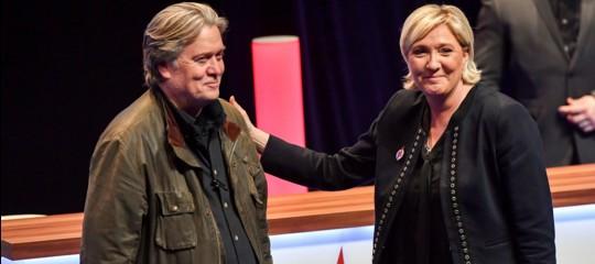 L'entusiasmo di Le Pen eBannonper il governo giallo-verde