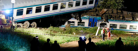 incidente treno a Caluso (AFP)