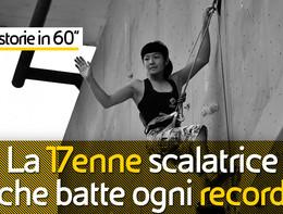 La scalatrice 17enne che batte ogni record
