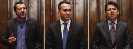 Matteo Salvini - Luigi Di Maio - Giuseppe Conte
