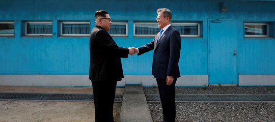 Coree: incontro traKim e Moon al confine, si parla di vertice con Trump