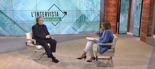 """""""Tutto il mondo guarda l'Italia, con Savona l'economia riprenderà"""". Cosa ha dettoBannonaSkyTg24"""
