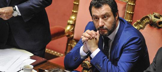 """Migranti, Salvini in Senato: """"La Francia chieda scusa"""""""