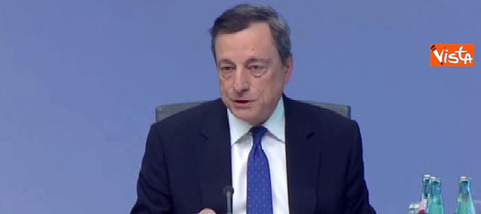 """Draghi: """"Nessun complotto sui titoli di Stato italiani"""""""