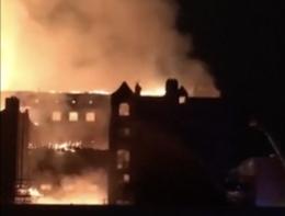 Le immagini dell'incendio della Glasgow Art School