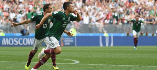 Il Messico ha battuto la Germania campione del Mondo per 1-0