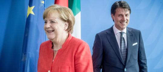 Euro, migranti, povertà: cosa ha detto Conte alla cancellieraMerkel