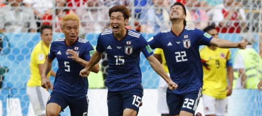 Mondiali: il Giappone batte la Colombia 2-1