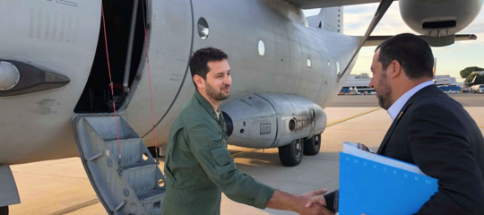 salvini aereo libia