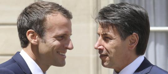 """A RomaMacron ha visto anche Conte: """"Abbiamo parlato di Ue e migranti"""""""