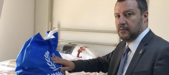 """Il video di Salvini nel centro per migranti in Libia: """"Ora l'Europa si svegli"""""""