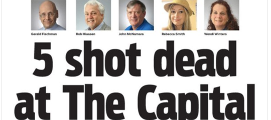 strage giornale usa annapolis