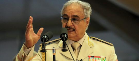 """Migranti:Haftar, """"No a presenzemilitari straniere in Libia"""""""