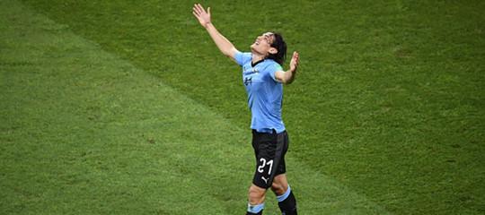 Mondiali: doppietta di Cavani, l'Uruguay batte il Portogallo e va ai quarti