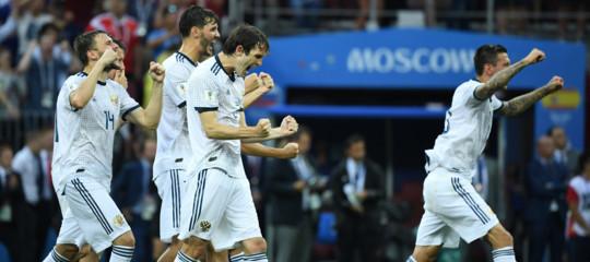 Mondiali: la Russia elimina la Spagna ai calci di rigore e va ai quarti di finale