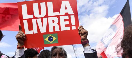 Brasile Lula scarcerato