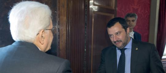 Mattarella a colloquio per mezz'ora con Salvini: si è parlato solo di migranti e mafie