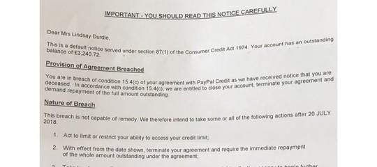 Sembrerà assurdo, ma morire vìola i termini di servizio diPayPal