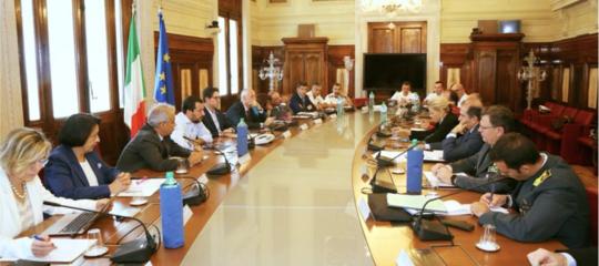Salvini ha pubblicato una foto del tavolo sull'immigrazione convocato alViminale