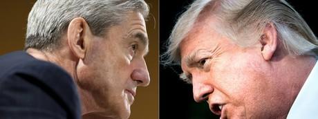 Il direttore dell' FBI Robert Mueller e il presidente americano Donald Trump