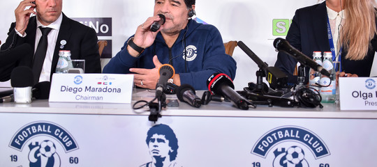 Maradonaè diventato il presidente di una squadra bielorussa