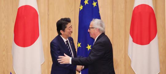 Dazi: Ue e Giappone firmano accordo di libero scambio