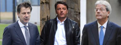 Conte, Renzi, Gentiloni