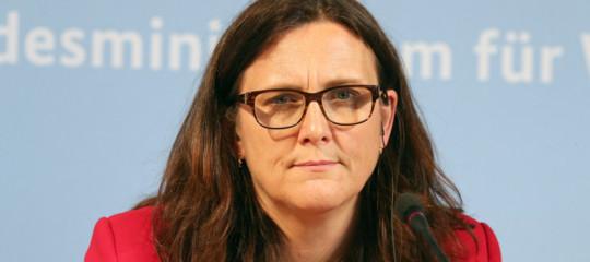Dazi:Malmstroem, Ue prepara rappresaglia contro Usa su auto
