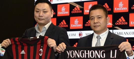 Milan:YonghongLi indagato per falso in bilancio