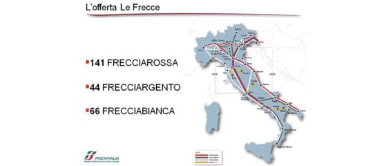 Il motivo per cui in Sicilia e Sardegna non circolano le Frecce di Fs (di nessun colore)