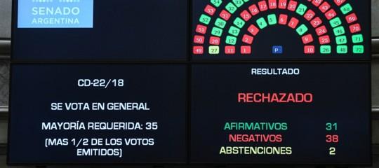 Argentina: il Senato boccia la proposta di legalizzazione dell'aborto
